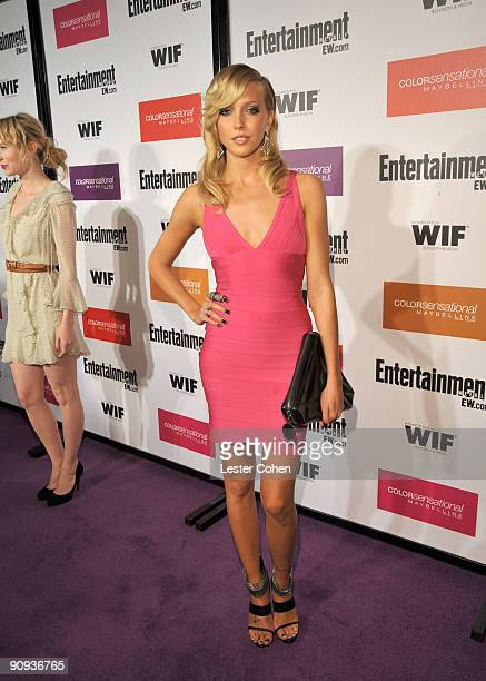 Actress Katie Cassidy arrives to the Entertainment Weekly and Women in Film preEmmy Party presented by Maybelline Colorsensational held at Restaurant...