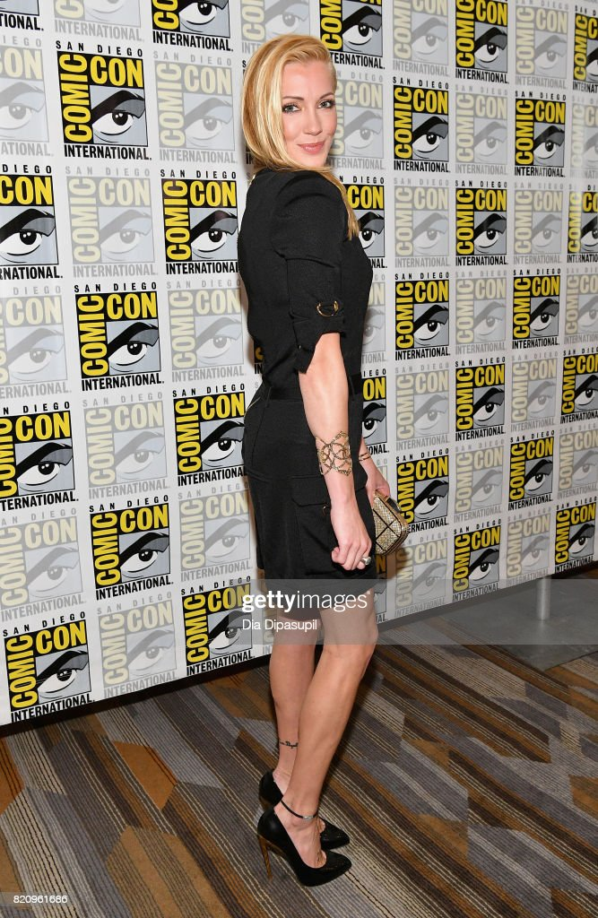 Actress Katie Cassidy at the 'Arrow' Press Line during Comic-Con International 2017 at Hilton Bayfront on July 22, 2017 in San Diego, California.