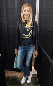 Actress Katie Cassidy attends day 4 of Wizard World Comic Con at Pennsylvania Convention Center on May 10 2015 in Philadelphia Pennsylvania