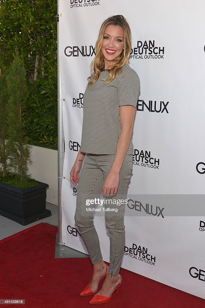 Actress <a gi-track='captionPersonalityLinkClicked' href=/galleries/search?phrase=Katie+Cassidy&family=editorial&specificpeople=569891 ng-click='$event.stopPropagation()'>Katie Cassidy</a> attends Genlux Magazine's launch party for their new issue at Luxe Hotel on June 28, 2014 in Los Angeles, California.