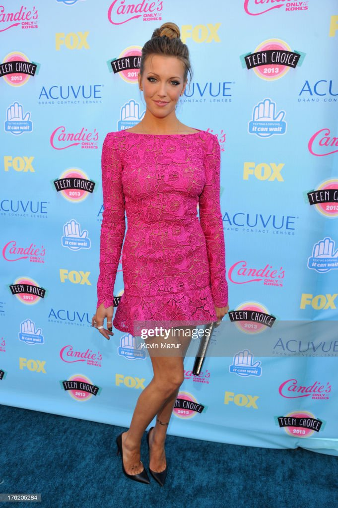 Actress Katie Cassidy attends the 2013 Teen Choice Awards at Gibson Amphitheatre on August 11, 2013 in Universal City, California.