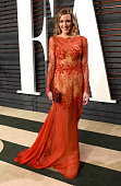 Actress Katie Cassidy attends the 2015 Vanity Fair Oscar Party hosted by Graydon Carter at the Wallis Annenberg Center for the Performing Arts on...
