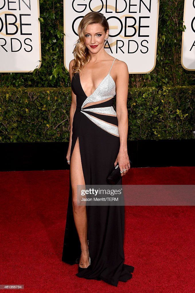 Actress <a gi-track='captionPersonalityLinkClicked' href=/galleries/search?phrase=Katie+Cassidy&family=editorial&specificpeople=569891 ng-click='$event.stopPropagation()'>Katie Cassidy</a> attends the 72nd Annual Golden Globe Awards at The Beverly Hilton Hotel on January 11, 2015 in Beverly Hills, California.
