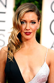 Actress Katie Cassidy attends the 72nd Annual Golden Globe Awards at The Beverly Hilton Hotel on January 11 2015 in Beverly Hills California