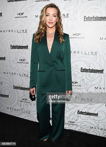Actress Katie Cassidy attends the Entertainment Weekly Celebration of SAG Award Nominees sponsored by Maybelline New York at Chateau Marmont on...