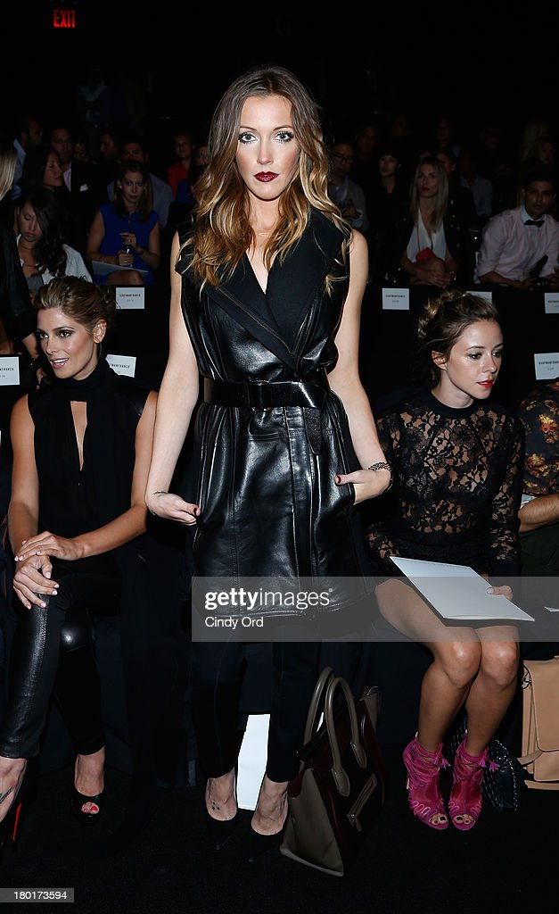 Actress <a gi-track='captionPersonalityLinkClicked' href=/galleries/search?phrase=Katie+Cassidy&family=editorial&specificpeople=569891 ng-click='$event.stopPropagation()'>Katie Cassidy</a> attends the Kaufmanfranco fashion show during Mercedes-Benz Fashion Week Spring 2014 at The Theatre at Lincoln Center on September 9, 2013 in New York City.