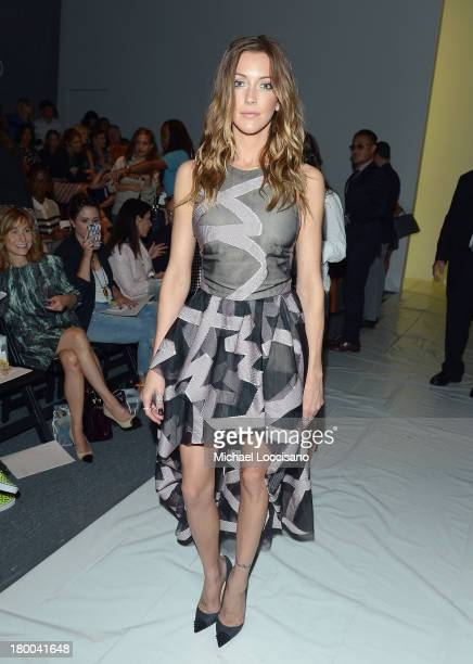 Actress Katie Cassidy attends the Lela Rose fashion show during MercedesBenz Fashion Week Spring 2014 at The Studio at Lincoln Center on September 8...