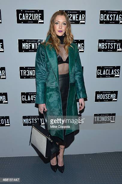 Actress Katie Cassidy attends the MercedesBenz Star Lounge during MercedesBenz Fashion Week Fall 2014 at Lincoln Center on February 9 2014 in New...