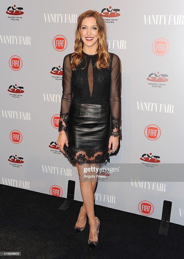 Actress <a gi-track='captionPersonalityLinkClicked' href=/galleries/search?phrase=Katie+Cassidy&family=editorial&specificpeople=569891 ng-click='$event.stopPropagation()'>Katie Cassidy</a> attends the Vanity Fair Campaign Hollywood 'Young Hollywood' party sponsored by Fiat at No Vacancy on February 25, 2014 in Los Angeles, California.