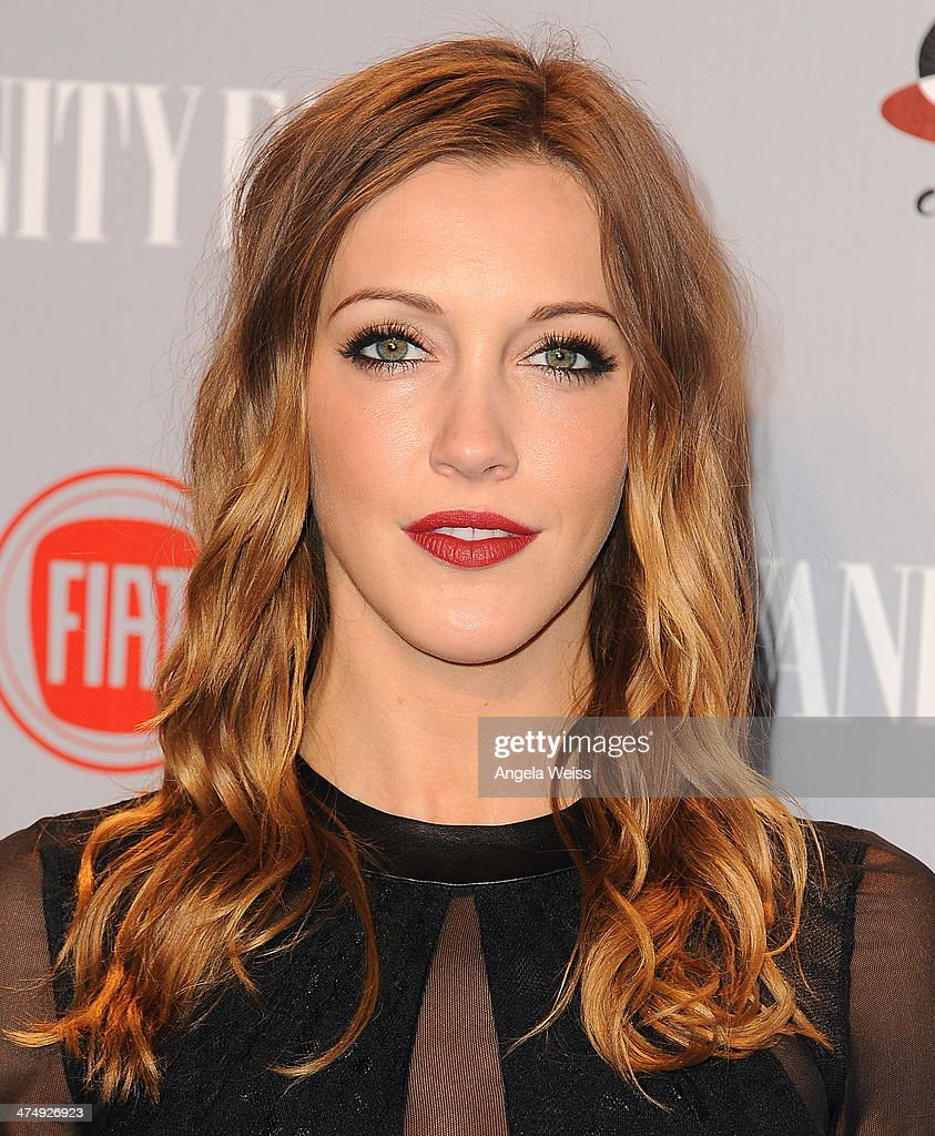 Actress Katie Cassidy attends the Vanity Fair Campaign Hollywood 'Young Hollywood' party sponsored by Fiat at No Vacancy on February 25, 2014 in Los Angeles, California.
