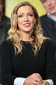 Actress Katie Cassidy serves as a panelist during the 'Arrow' and 'The Flash' panel as part of The CW 2015 Winter Television Critics Association...