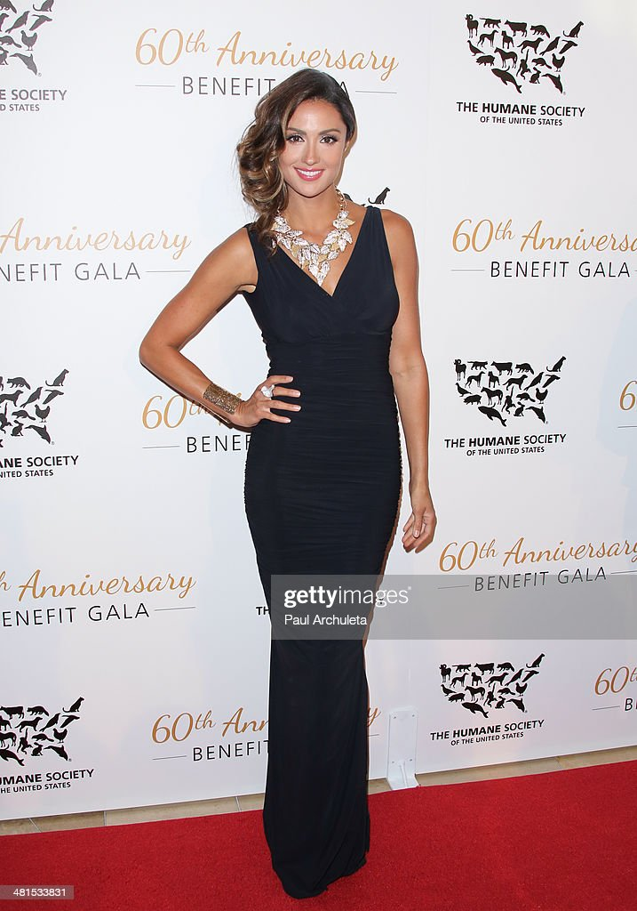 Actress <a gi-track='captionPersonalityLinkClicked' href=/galleries/search?phrase=Katie+Cleary&family=editorial&specificpeople=583482 ng-click='$event.stopPropagation()'>Katie Cleary</a> attends the Humane Society Of The United States 60th Anniversary Benefit Gala at The Beverly Hilton Hotel on March 29, 2014 in Beverly Hills, California.
