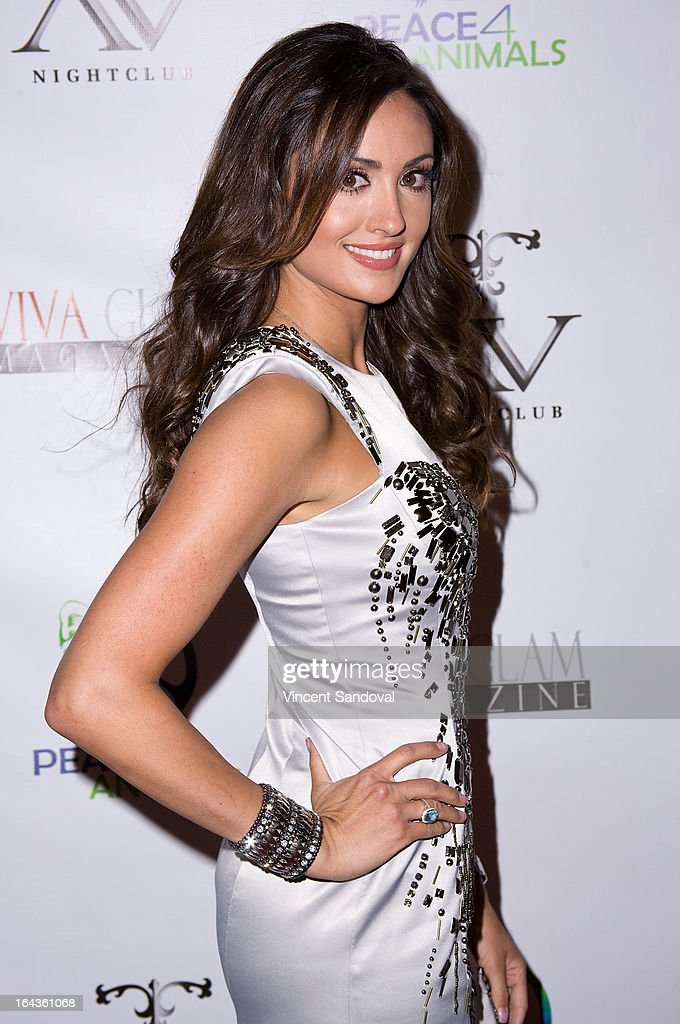Actress Katie Cleary attends the Viva Glam Magazine April launch party in support of Peace 4 Animals at AV on March 22, 2013 in Hollywood, California.