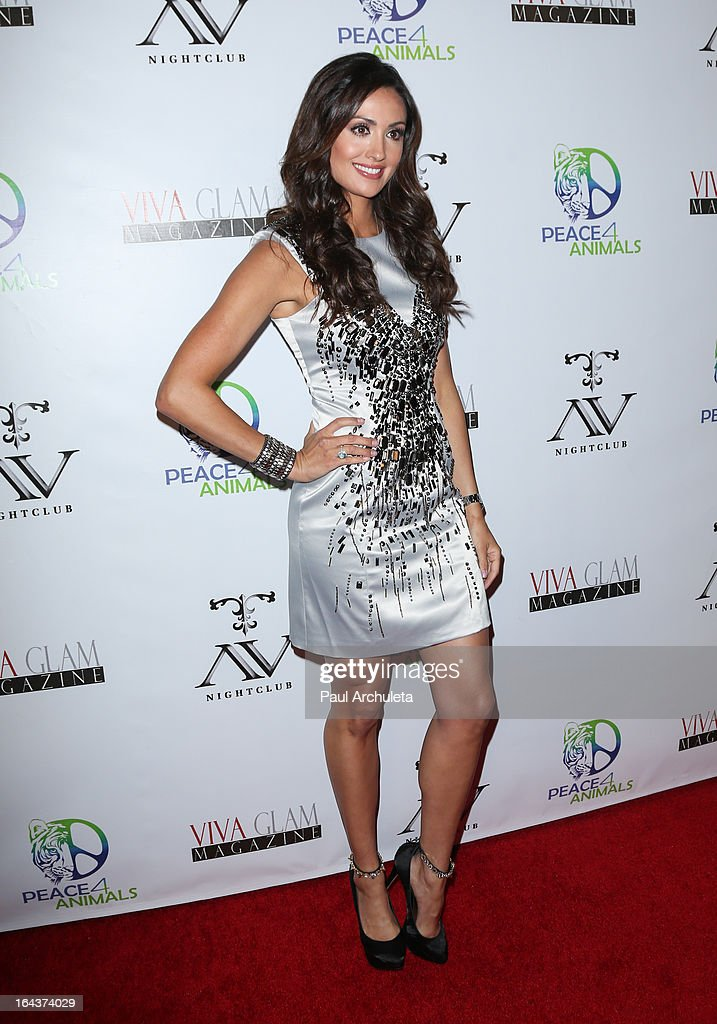 Actress Katie Cleary attends the Viva Glam Magazine April launch party in support of Peace 4 Animals at AV Nightclub on March 22, 2013 in Hollywood, California.