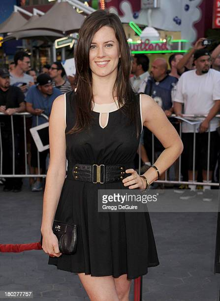 Actress Katie Featherston arrives at the Los Angeles premiere of 'Insidious Chapter 2' at Universal CityWalk on September 10 2013 in Universal City...