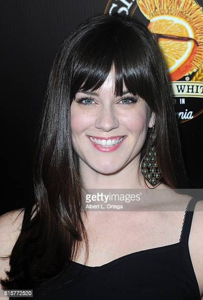 Actress Katie Featherston arrives for Screamfest 2016 premiere of 'Fear Inc' held at TCL Chinese Theatre on October 19 2016 in Hollywood California