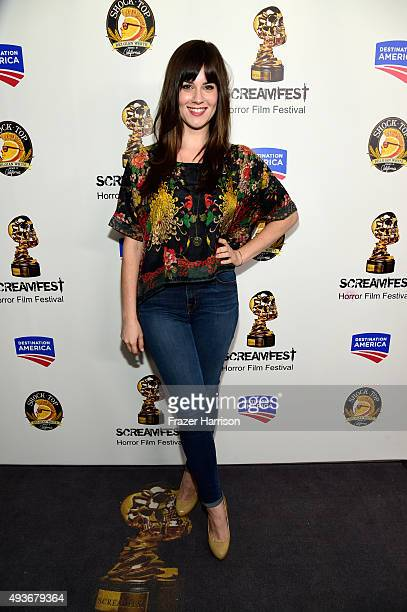 Actress Katie Featherston attends a screening and QA at Screamfest for the Original Paranormal Activity at the TCL Chinese Theatre on October 21 2015...