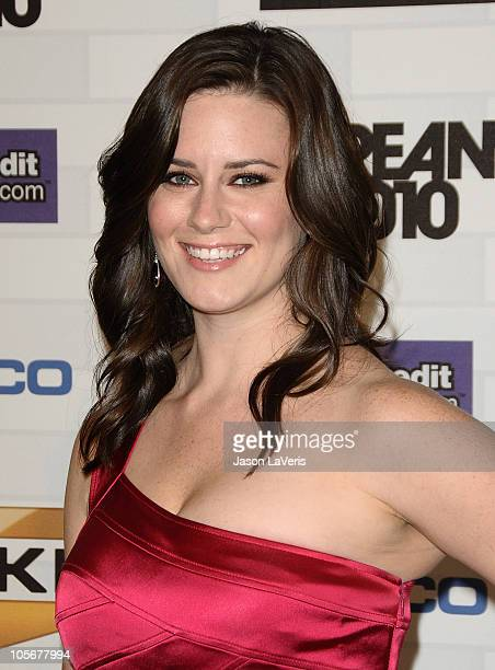 Actress Katie Featherston attends Spike TV's 'Scream 2010' at The Greek Theatre on October 16 2010 in Los Angeles California