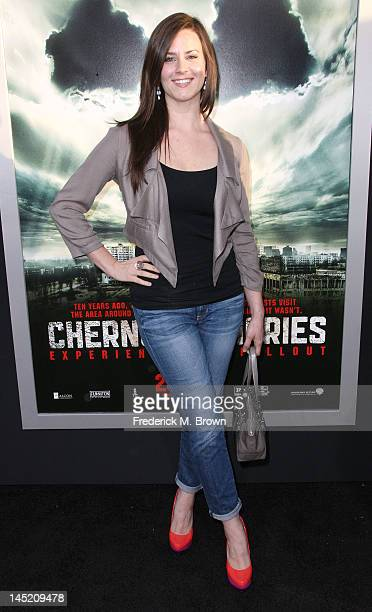 Actress Katie Featherston attends the Screening of Warner Bros 'Chernobyl Diaries' at the Cinerama Dome on May 23 2012 in Hollywood California