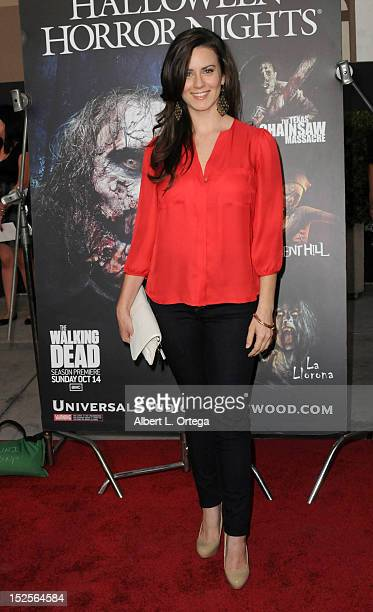 Actress Katie Featherstone arrives for Universal Studios Hollywood 'Halloween Horror Night' and Eye Gore Awards Kick Off Party held at Universal...
