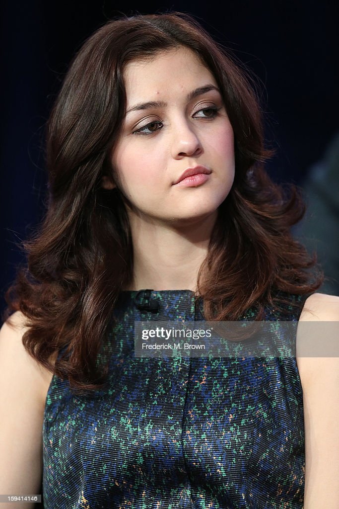 Actress Katie Findlay of the television show 'The Carrie Diaries' speaks during the CW Network portion of the 2013 Winter Television Critics Association Press Tour at the Langham Huntington Hotel & Spa on January 13, 2013 in Pasadena, California.