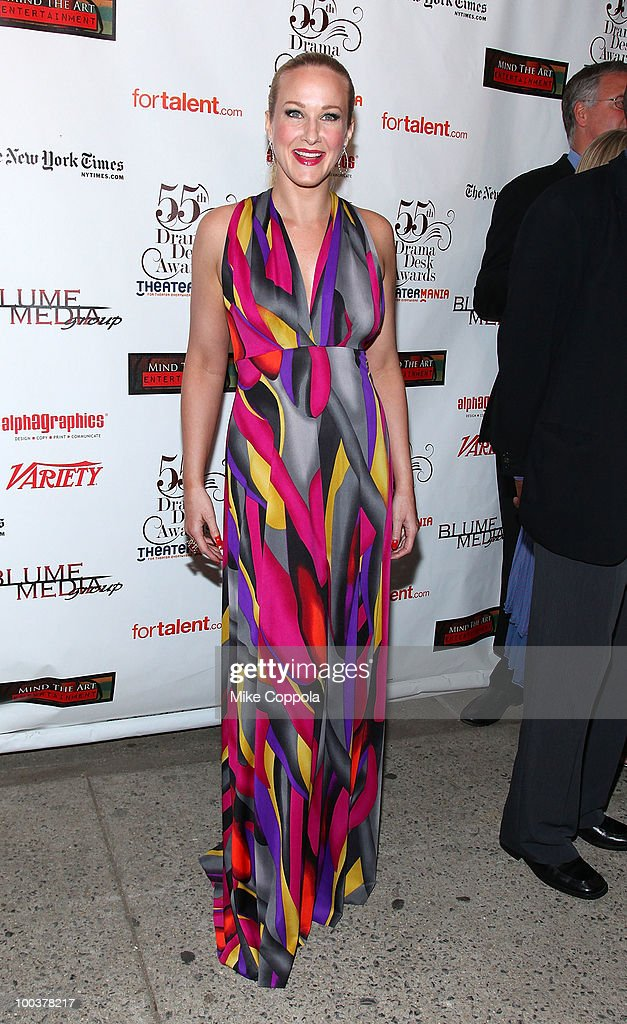 Actress Katie Finneran arrives at the 55th Annual Drama Desk Awards at the FH LaGuardia Concert Hall at Lincoln Center on May 23, 2010 in New York City.
