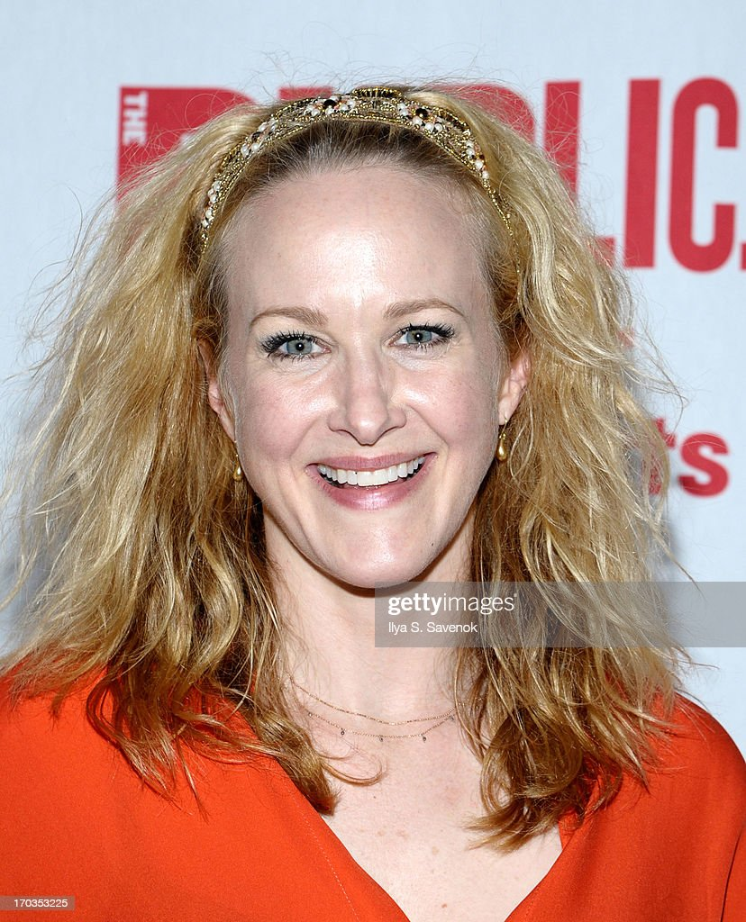 Actress <a gi-track='captionPersonalityLinkClicked' href=/galleries/search?phrase=Katie+Finneran&family=editorial&specificpeople=778124 ng-click='$event.stopPropagation()'>Katie Finneran</a> attends Annual Public Theater Gala at Delacorte Theater on June 11, 2013 in New York City.