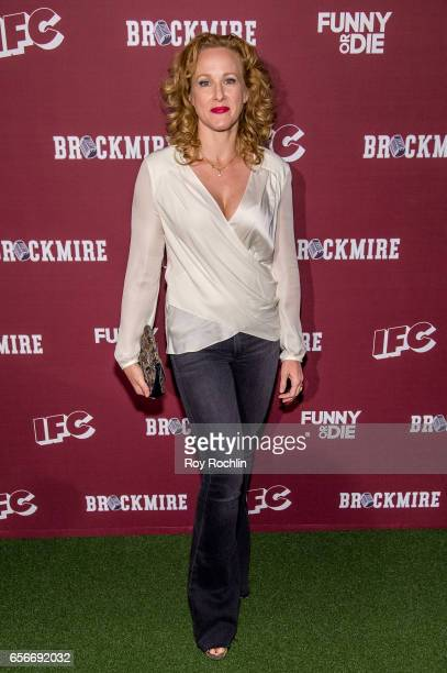 Actress Katie Finneran attends the 'Brockmire' red carpet event at 40 / 40 Club on March 22 2017 in New York City