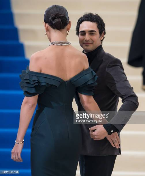 Actress Katie Holmes and fashion designer Zac Posen are seen at the 'Rei Kawakubo/Comme des Garcons Art Of The InBetween' Costume Institute Gala at...