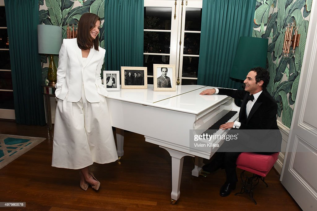 Actress Katie Holmes and fashion designer Zac Posen attend Katie Homes and Jonas Tahlin Host An Intimate Celebration Honoring WWD and Variety...