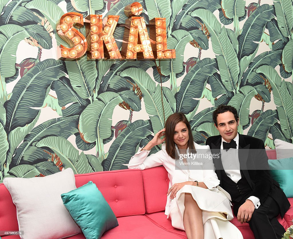 Actress Katie Holmes and fashion designer Zac Posen attends Katie Homes and Jonas Tahlin Host An Intimate Celebration Honoring WWD and Variety...