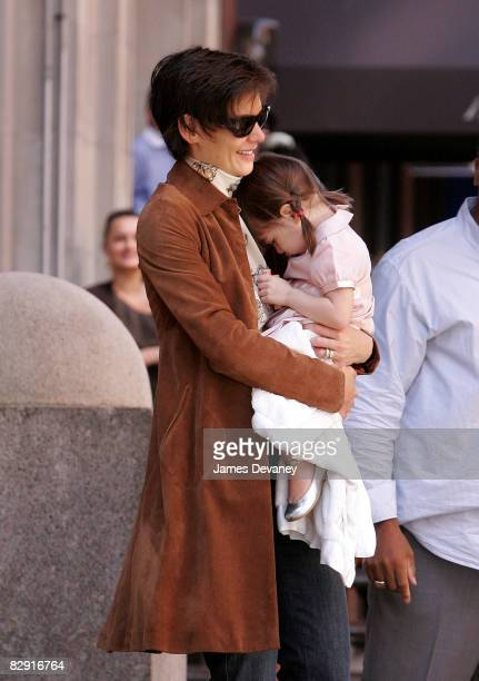 Actress Katie Holmes and her daughter Suri Cruise seen on the streets of Manhattan September 18 2008 in New York City