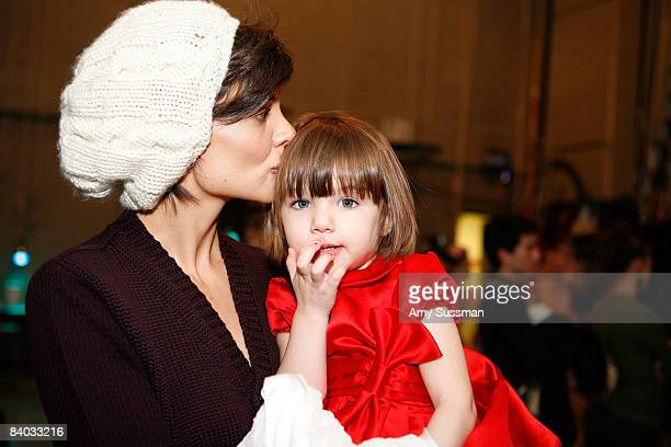 Actress Katie Holmes and her daughter Suri Cruise visit 'The Nutcracker' at the New York City Ballet on December 14 2008 in New York City