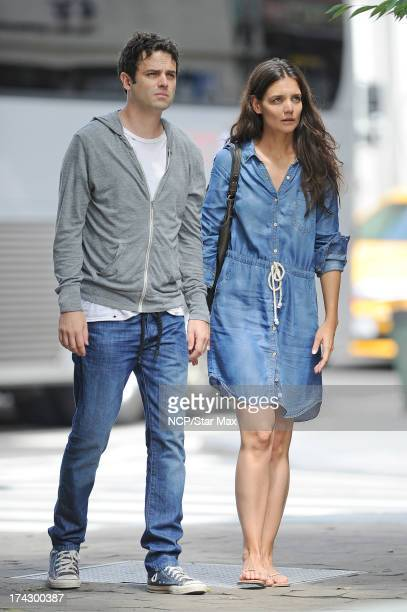 Actress Katie Holmes and Luke Kirby as seen on July 23 2013 in New York City