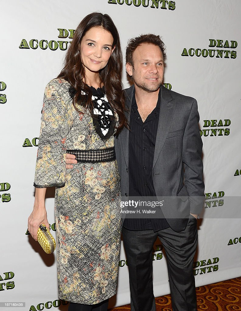 Actress Katie Holmes and Norbert Leo Butz attend the 'Dead Accounts' Broadway opening night after party at Gotham Hall on November 29, 2012 in New York City.