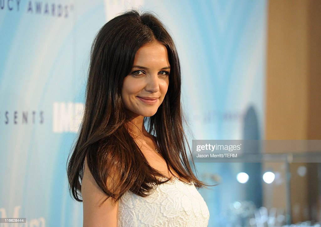 Actress Katie Holmes arrives at the 2011 Women In Film Crystal + Lucy Awards with presenting sponsor PANDORA jewelry at the Beverly Hilton Hotel on June 16, 2011 in Beverly Hills, California.