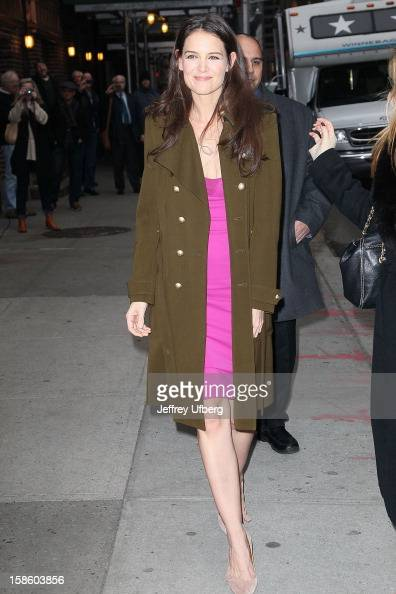 Actress Katie Holmes arrives to 'Late Show with David Letterman' at Ed Sullivan Theater on December 20 2012 in New York City