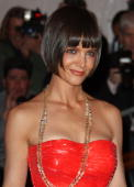 Actress Katie Holmes arrives to the Metropolitan Museum of Art Costume Institute Gala Superheroes Fashion and Fantasy held at the Metropolitan Museum...