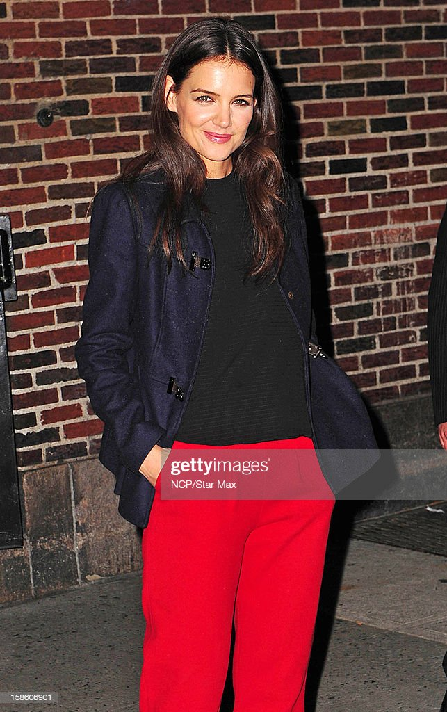 Actress Katie Holmes as seen on December 20, 2012 in New York City.
