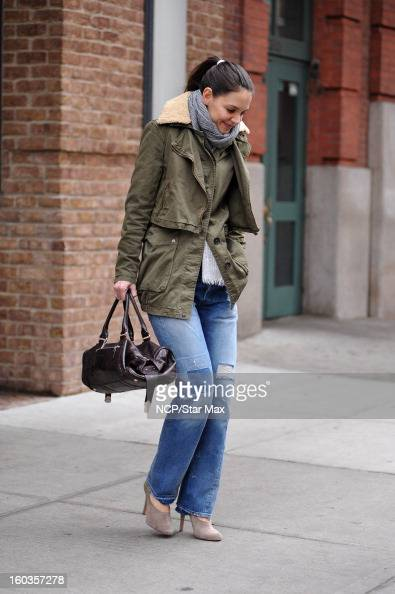 Actress Katie Holmes as seen on January 29 2013 in New York City
