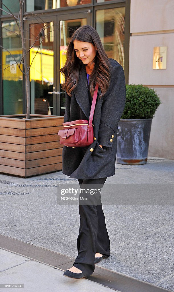 Actress Katie Holmes as seen on March 5, 2013 in New York City.