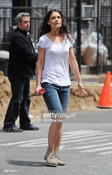 Actress Katie Holmes as seen on the set of 'Mania Days' on May 14 2013 in New York City