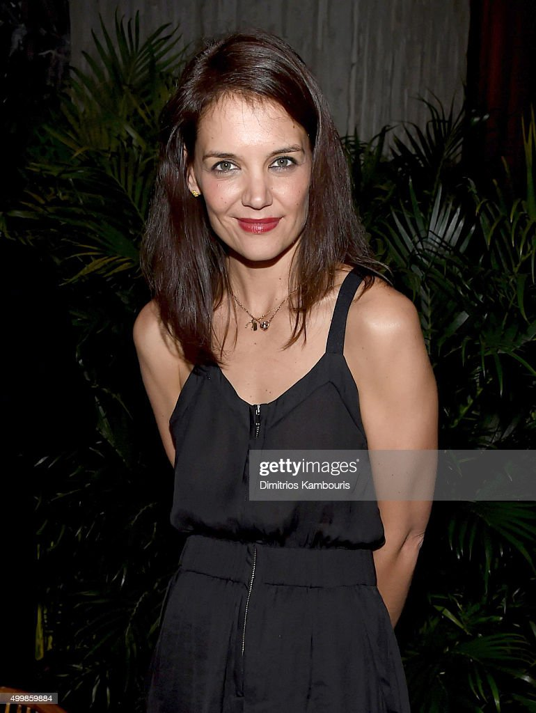 Actress <a gi-track='captionPersonalityLinkClicked' href=/galleries/search?phrase=Katie+Holmes&family=editorial&specificpeople=201598 ng-click='$event.stopPropagation()'>Katie Holmes</a> attends Aby Rosen and Samantha Boardman host their Annual Dinner at The Dutch W Hotel South Beach on December 3, 2015 in Miami, Florida.