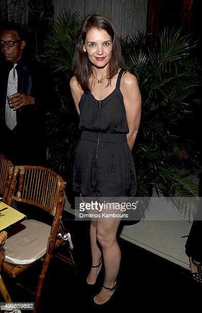Actress Katie Holmes attends Aby Rosen and Samantha Boardman host their Annual Dinner at The Dutch W Hotel South Beach on December 3 2015 in Miami...