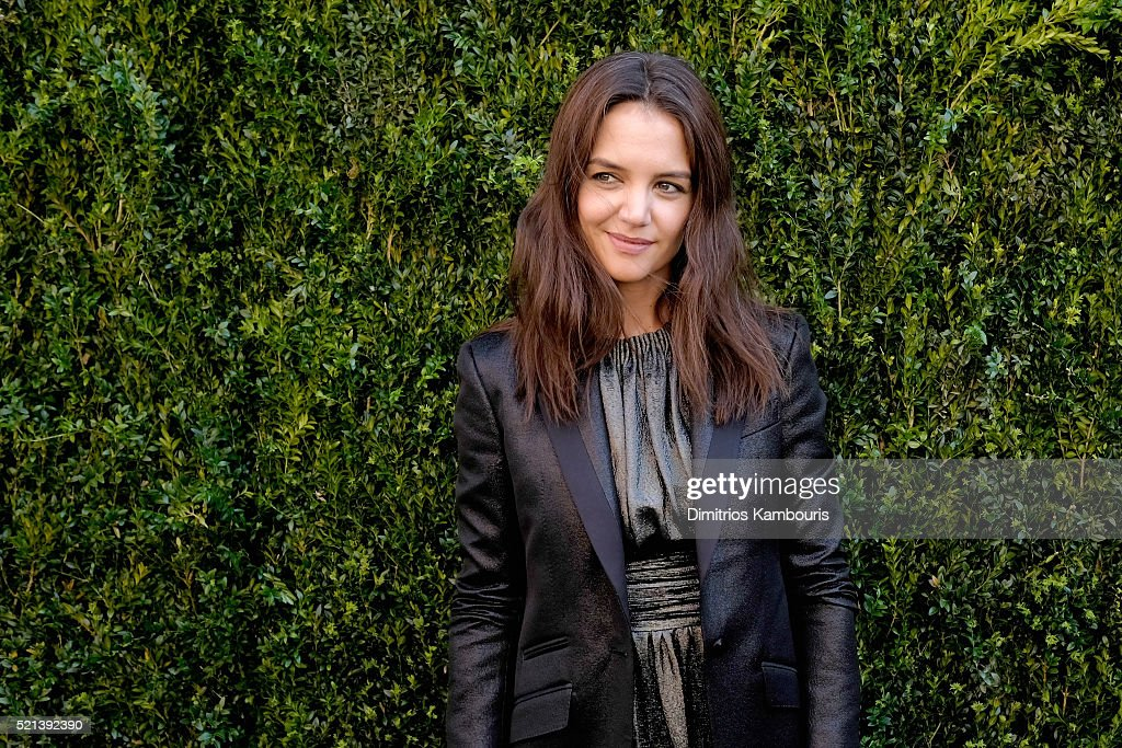 Actress Katie Holmes attends CHANEL Tribeca Film Festival Women's Filmmaker Luncheon on April 15, 2016 in New York City.