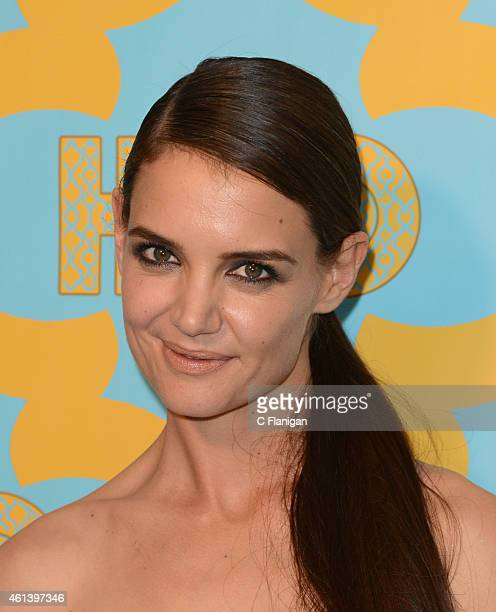 Actress Katie Holmes attends HBO's post Golden Globe Awards party at The Beverly Hilton Hotel on January 11 2015 in Beverly Hills California