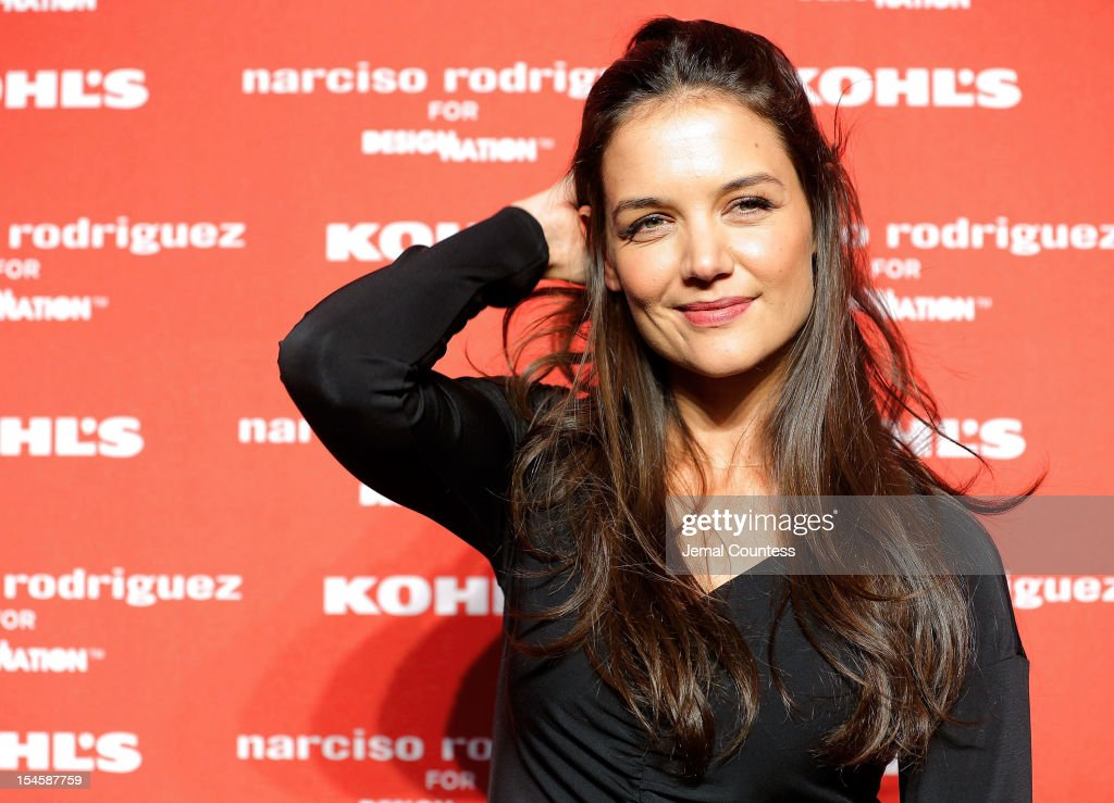 Actress <a gi-track='captionPersonalityLinkClicked' href=/galleries/search?phrase=Katie+Holmes&family=editorial&specificpeople=201598 ng-click='$event.stopPropagation()'>Katie Holmes</a> attends Narciso Rodriguez Kohl's Collection Launch Party at IAC Building on October 22, 2012 in New York City.