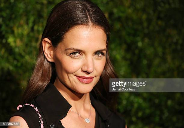 Actress Katie Holmes attends the 11th Annual Chanel Tribeca Film Festival Artists Dinner at Balthazar on April 18 2016 in New York City