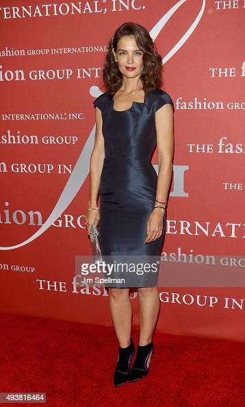 Actress Katie Holmes attends the 2015 Fashion Group International's Night Of Stars at Cipriani Wall Street on October 22 2015 in New York City