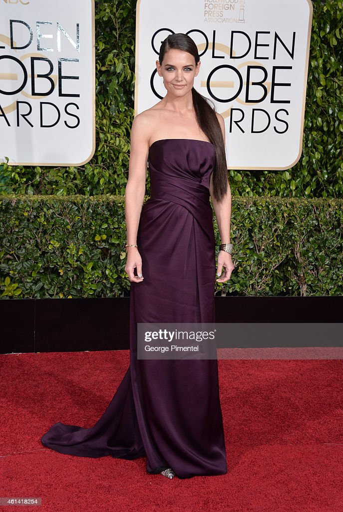 Actress <a gi-track='captionPersonalityLinkClicked' href=/galleries/search?phrase=Katie+Holmes&family=editorial&specificpeople=201598 ng-click='$event.stopPropagation()'>Katie Holmes</a> attends the 72nd Annual Golden Globe Awards at The Beverly Hilton Hotel on January 11, 2015 in Beverly Hills, California.